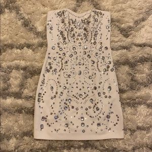 Express Strapless Beaded & Embellished Dress
